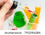 modern laboratory with chemical ... | Shutterstock . vector #793396384