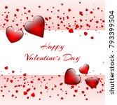 happy st. valentine's day... | Shutterstock .eps vector #793399504