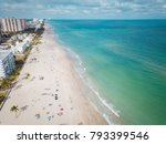 aerial view to hollywood beach  ... | Shutterstock . vector #793399546