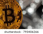 bitcoin gold coins with... | Shutterstock . vector #793406266