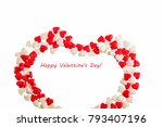 valentine's day. heart made of... | Shutterstock . vector #793407196