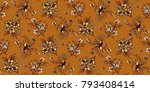seamless floral pattern in... | Shutterstock .eps vector #793408414