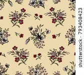 seamless floral pattern in... | Shutterstock .eps vector #793408423