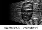 hacker artificial intelligence... | Shutterstock .eps vector #793408594