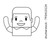 funny man avatar character | Shutterstock .eps vector #793413124