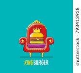 vector cartoon royal king... | Shutterstock .eps vector #793413928