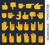 hands in different... | Shutterstock .eps vector #793415758