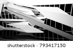 abstract white and black... | Shutterstock . vector #793417150