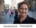 older woman portrait....   Shutterstock . vector #793418590
