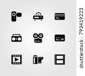 technology vector icons set.... | Shutterstock .eps vector #793419223