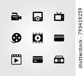 technology vector icons set.... | Shutterstock .eps vector #793419259
