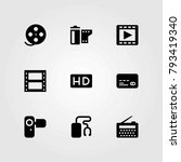 technology vector icons set.... | Shutterstock .eps vector #793419340