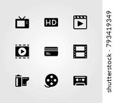 technology vector icons set.... | Shutterstock .eps vector #793419349