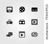 technology vector icons set.... | Shutterstock .eps vector #793419913