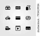 technology vector icons set. hd ... | Shutterstock .eps vector #793419934