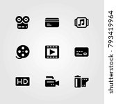 technology vector icons set.... | Shutterstock .eps vector #793419964