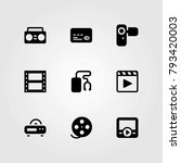 technology vector icons set.... | Shutterstock .eps vector #793420003