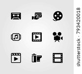 technology vector icons set.... | Shutterstock .eps vector #793420018