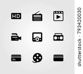 technology vector icons set. hd ... | Shutterstock .eps vector #793420030