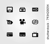 technology vector icons set.... | Shutterstock .eps vector #793420054
