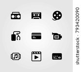 technology vector icons set.... | Shutterstock .eps vector #793420090