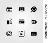 technology vector icons set.... | Shutterstock .eps vector #793420090