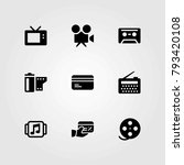 technology vector icons set.... | Shutterstock .eps vector #793420108