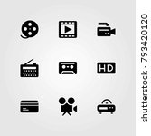 technology vector icons set.... | Shutterstock .eps vector #793420120