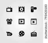 technology vector icons set.... | Shutterstock .eps vector #793420183