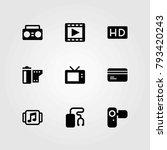 technology vector icons set.... | Shutterstock .eps vector #793420243