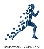 running person from the... | Shutterstock .eps vector #793420279
