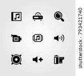 multimedia vector icons set.... | Shutterstock .eps vector #793421740