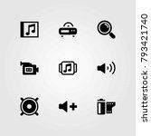 multimedia vector icons set.... | Shutterstock .eps vector #793421740