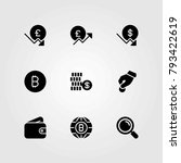 money vector icons set. pound... | Shutterstock .eps vector #793422619