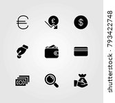 money vector icons set. donate  ... | Shutterstock .eps vector #793422748
