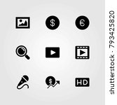 buttons vector icons set.... | Shutterstock .eps vector #793425820