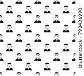 asian man pattern seamless in... | Shutterstock .eps vector #793426990