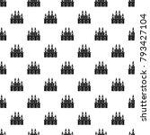 medieval castle pattern... | Shutterstock .eps vector #793427104