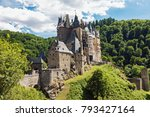 medieval eltz castle in the... | Shutterstock . vector #793427164