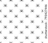 spider pattern seamless in... | Shutterstock .eps vector #793427446