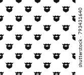 beard and mustache pattern...   Shutterstock .eps vector #793431640