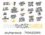 collection of vector hand made... | Shutterstock .eps vector #793432090