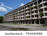abandoned multi story building. ... | Shutterstock . vector #793434988