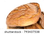 freshly baked loaf of bread on...   Shutterstock . vector #793437538