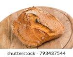 freshly baked loaf of bread on...   Shutterstock . vector #793437544