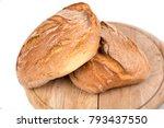 freshly baked loaf of bread on...   Shutterstock . vector #793437550