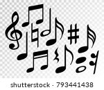 music note icons vector set ... | Shutterstock .eps vector #793441438