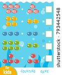 counting game for preschool... | Shutterstock .eps vector #793442548