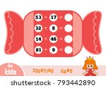 counting game for preschool... | Shutterstock .eps vector #793442890