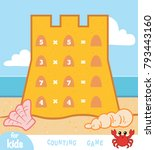 counting game for preschool... | Shutterstock .eps vector #793443160